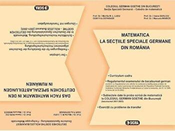 Matematica - Bacalaureat la sectiile speciale germane din Romania/*** imagine elefant.ro 2021-2022