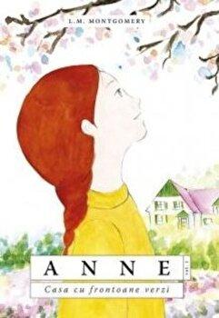 Coperta Carte Anne. Casa cu frontoane verzi
