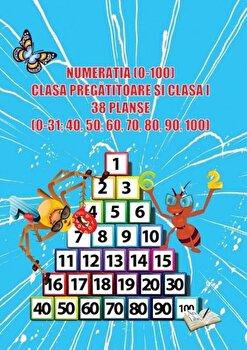 Numeratia (0-100), clasa pregatitoare si clasa I, 38 planse/*** poza cate