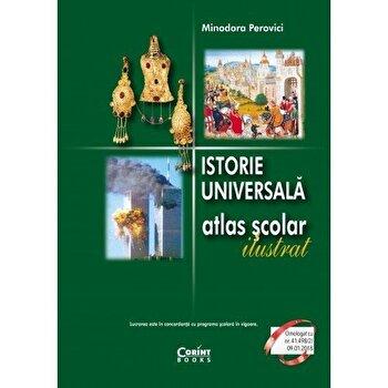 Coperta Carte Istorie universala. Atlas scolar ilustrat