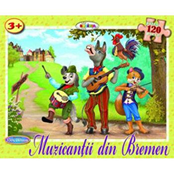 Puzzle - Muzicantii din Bremen (120 piese)/*** imagine elefant.ro 2021-2022