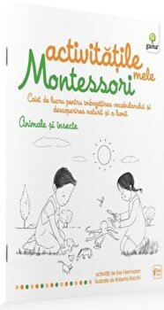 Coperta Carte Animale si insecte - Activitatile mele Montessori
