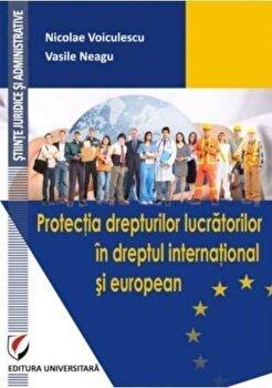 Protectia drepturilor lucratorilor in dreptul international si european/Nicolae Voiculescu, Vasile Neagu imagine elefant.ro