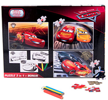 Puzzle 3in1 + Bonus Cars