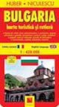 Bulgaria. Harta turistica si rutiera/Huber Niculescu imagine elefant.ro