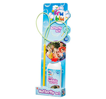 Set fluture + sticla lichid pentru bule 0,5l FRU BLU