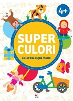 Coperta Carte SUPERCULORI. Coloram dupa model 4+
