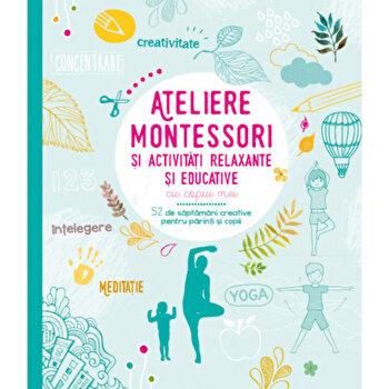 Ateliere Montessori si activitati relaxante si educative cu copiii mei/Sophie de Mullenheim, Shobana R. Vinay imagine elefant.ro 2021-2022