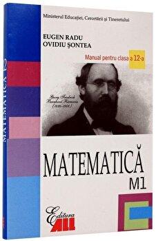 Coperta Carte Matematica M1. Manual pentru clasa a XII-a