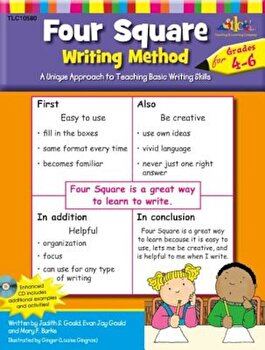 Four Square: Writing Method Grades 4-6 W/Enhanced CD: A Unique Approach to Teaching Basic Writing Skills, Paperback/Judy Gould image0