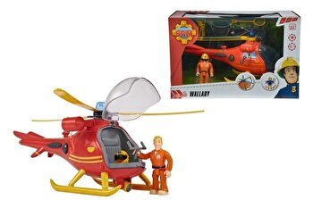Set figurina Fireman Sam, Wallaby cu elicopter