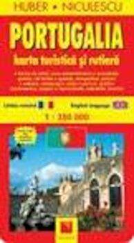 Harta Portugaliei - turistica si rutiera/Huber Niculescu imagine elefant.ro