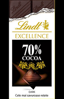 Lindt Excellence 70 procente cacao dark: Cele mai savuroase retete/Larousse imagine elefant.ro 2021-2022