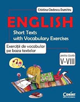 Engleza. Exercitii de vocabular pe baza textelor/Cristina Cindescu Dumitru