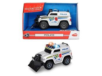 Masina de politie Dickie Toys cu lumini si sunete, 15 cm
