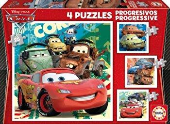 Puzzle-uri progresive Cars, 12-16-20-25 piese