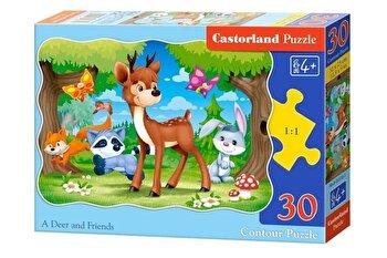 Puzzle Caprioara si prietenii ei, 30 piese