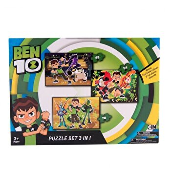 Puzzle 3 in 1 Ben 10, 172 piese
