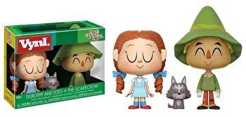Set figurine Funko Pop! Vrajitorul din Oz - Dorothy, Toto si Sperietoarea de Ciori