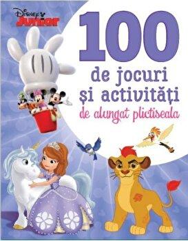 Coperta Carte Disney Junior. 100 de jocuri si activitati de alungat plictiseala