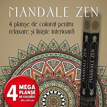 Mandale Zen. 4 planse de colorat pentru relaxare si liniste interioara/*** imagine elefant.ro