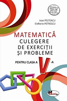 Matematica. Culegere de exercitii si probleme pentru cls a V-a/Ioan Pelteacu, Elefterie Petrescu