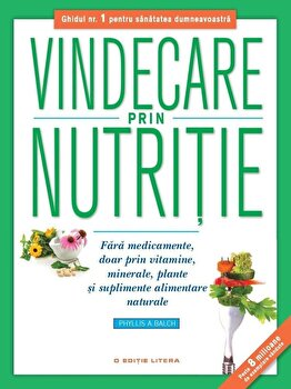 Vindecare prin nutritie. Fara medicamente, doar prin vitamine, minerale, plante si suplimente alimentare naturale/Phyllis A. Balch imagine elefant 2021