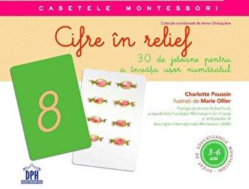Cifre in relief - jetoane + ghid de utilizare/Charlotte Poussin