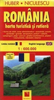 Romania. Harta turistica si rutiera/*** imagine elefant.ro 2021-2022