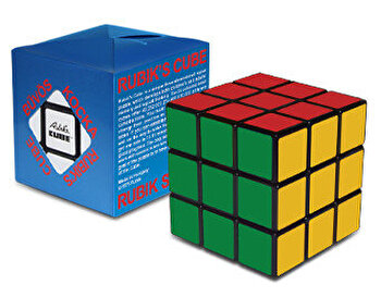 Cub Rubik 3x3x3 in cutie carton albastra