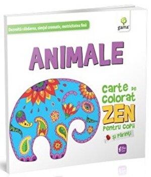 Animale. Carte de colorat ZEN/***