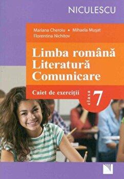 Coperta Carte Limba romana. Literatura. Comunicare. Clasa a VII-a. Caiet de exercitii