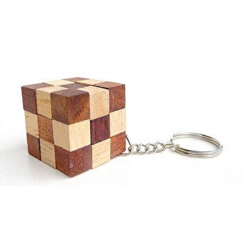Puzzle din lemn Mini Snake - breloc