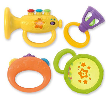 Set 4 zornaitori Winfun, pentru bebelusi, Instrumente muzicale