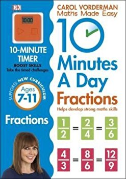 10 Minutes a Day Fractions, Paperback/Carol Vorderman poza cate