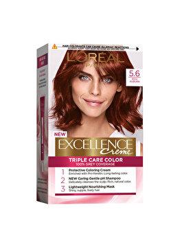 Vopsea de par permanenta L'Oréal Excellence, 5.6 Visiniu Intens, 182 ml imagine produs