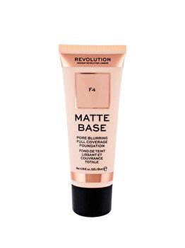 Fond de ten Makeup Revolution London Matte Base, F4, 28 ml imagine produs