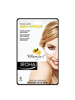 Plasturi anti-oboseala pentru ochi Iroha Hydrogel Eyes Vitamin C, 6 buc. poza
