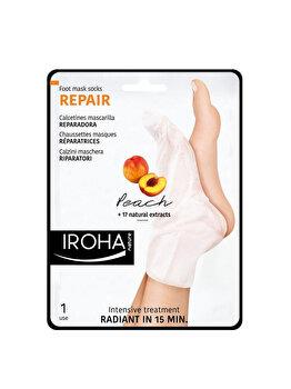 Masca-soseta reparatoare pentru picioare Iroha Repair Peach, 1 pereche imagine produs