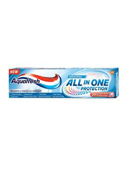 Pasta de dinti cu fluor, 8 beneficii Aquafresh All in One Original, 75 ml imagine produs