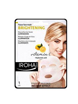 Masca-servetel iluminatoare pentru fata Iroha Brightening Vitamin C + Hyaluronic Acid, 1 buc. imagine produs