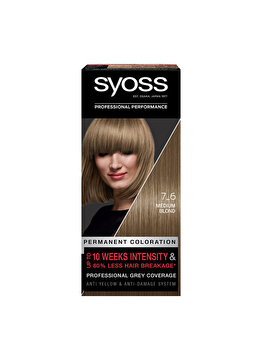 Vopsea de par permanenta Syoss Color Baseline, 7-6 Blond Mediu, 115 ml imagine produs