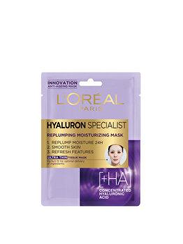 Masca servetel hidratanta pentru volumul tenului cu efect antirid L'Oréal Paris Hyaluron Specialist, 30 g imagine produs