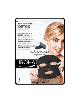 Masca-servetel pentru fata Iroha Detox Anti-Blemish Charcoal + Hyaluronic Acid, 1 buc. imagine produs