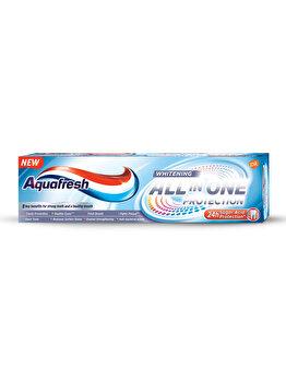 Pasta de dinti cu fluor, 8 beneficii Aquafresh All in One Whitening, 75 ml imagine produs