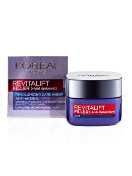 Crema antirid pentru fata L'Oreal Paris Revitalift Filler de noapte, 50 ml imagine produs
