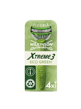 Aparat de ras pentru barbati Wilkinson Sword Xtreme 3 Eco Green, 4 buc. imagine produs