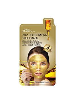 Masca faciala pentru fermitate 7th Heaven Renew You 24k Gold, 1 buc. imagine produs
