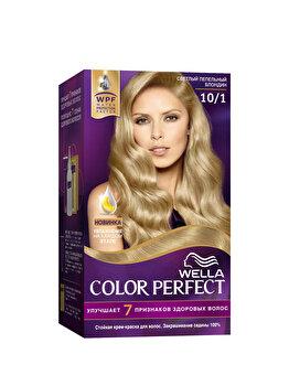Vopsea de par Wella, Perfect Kit 10/1 Very Light Ash Blond, 120 ml imagine produs