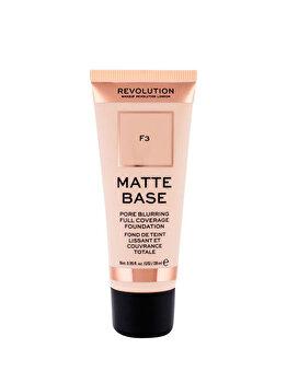 Fond de ten Makeup Revolution London Matte Base, F3, 28 ml imagine produs